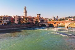 Ciudad de Verona Italia Fotos de archivo libres de regalías
