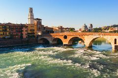 Ciudad de Verona Italia Imágenes de archivo libres de regalías