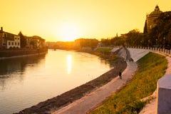 Ciudad de Verona Italia Imagen de archivo libre de regalías