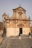 Ciudad de Victoria en la isla Malta de Gozo Fotografía de archivo libre de regalías