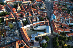 Ciudad de Vilna Lituania, visión aérea Fotografía de archivo libre de regalías