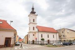 Ciudad de Vinkovci en Croacia imagenes de archivo
