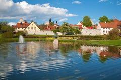 Ciudad de Visby en Gotland, Suecia fotografía de archivo