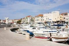 Ciudad de Vodice, Croacia Fotos de archivo