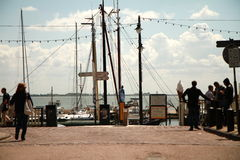 Ciudad de Volendam Fotos de archivo libres de regalías