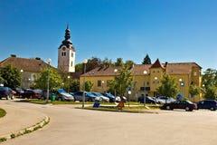 Ciudad de Vrbovec en Croacia Foto de archivo libre de regalías