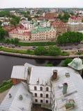 Ciudad de Vyborg Opinión del tejado Imagenes de archivo