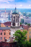 Ciudad de Vyborg Torre de reloj Fotos de archivo