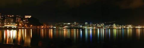 Ciudad de Wellington por Night - Nueva Zelandia Fotografía de archivo libre de regalías