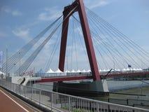 Ciudad de Willems Bridge (Willemsbrug) Rotterdam Foto de archivo libre de regalías