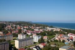 Ciudad de Wladyslawowo Foto de archivo libre de regalías