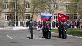 Ciudad de Yasny, Rusia - 9 de mayo de 2018 metrajes
