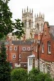 Ciudad de York con la iglesia de monasterio de York Yorkshire, Reino Unido Imágenes de archivo libres de regalías