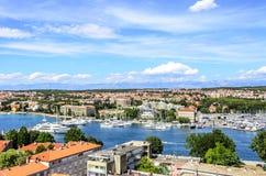 Ciudad de Zadar, Croacia fotografía de archivo
