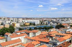 Ciudad de Zadar, Croacia imagen de archivo