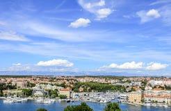 Ciudad de Zadar, Croacia imagenes de archivo