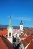 Ciudad de Zagreb fotografía de archivo libre de regalías