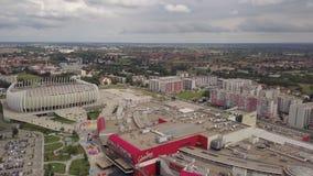 Ciudad de Zagreb Croatia del cielo almacen de metraje de vídeo