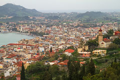 Ciudad de Zakinthos Imagen de archivo libre de regalías