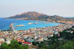Ciudad de Zakynthos Imagen de archivo