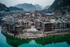 Ciudad de Zhenyuan, Guizhou, China Foto de archivo libre de regalías