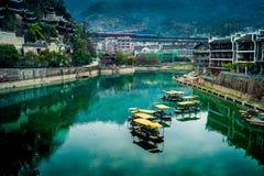 Ciudad de Zhenyuan, Guizhou, China Imagen de archivo libre de regalías