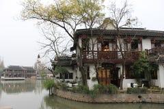 Ciudad de Zhujiajiao, al sur del río Yangzi Fotografía de archivo libre de regalías