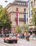 Ciudad de Zurich en el día nacional suizo Fotografía de archivo