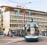 Ciudad de Zurich en el día nacional suizo Imagen de archivo