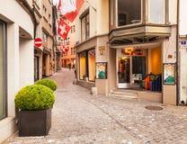Ciudad de Zurich en el día nacional suizo Foto de archivo