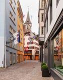 Ciudad de Zurich en el día nacional suizo Fotos de archivo