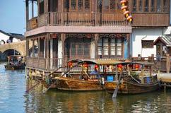Ciudad del agua de Zhujiajiao Foto de archivo libre de regalías