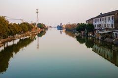 Ciudad del agua en Ningbo China Fotografía de archivo libre de regalías