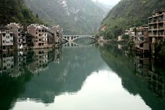 Ciudad del agua, XiJiang, China Imágenes de archivo libres de regalías