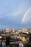 Ciudad del arco iris Imágenes de archivo libres de regalías