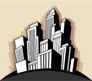 Ciudad del art déco Imagen de archivo libre de regalías