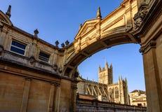 Ciudad del baño de la catedral del baño, Reino Unido Foto de archivo libre de regalías