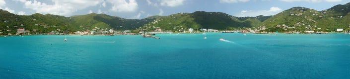 Ciudad del camino, Tortola, British Virgin Islands imagen de archivo
