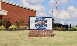 Ciudad del campista, Southaven, Mississippi Foto de archivo