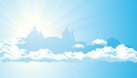 Ciudad del cielo stock de ilustración