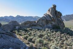 Ciudad del coto nacional de las rocas, Idaho fotografía de archivo libre de regalías