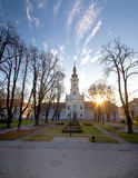 Ciudad del cuadrado central de Bjelovar foto de archivo libre de regalías