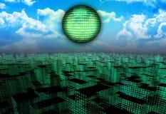 Ciudad del Cyber Imágenes de archivo libres de regalías