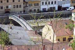 Ciudad del  de TÅ™ebÃÄ Imagenes de archivo