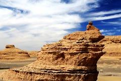 Ciudad del diablo de Dunhuang Yadan Imagen de archivo libre de regalías