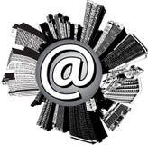 Ciudad del email libre illustration