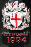 Ciudad del emblema de Londres Imagen de archivo libre de regalías