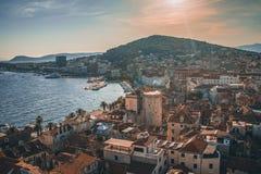 Ciudad del escupitajo en Dalmacia imagen de archivo