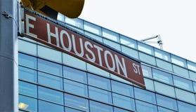 Ciudad del este de Houston Street Sign New York fotos de archivo
