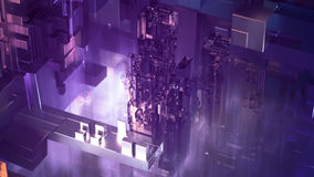 ciudad del extracto del ejemplo 3D Imágenes de archivo libres de regalías